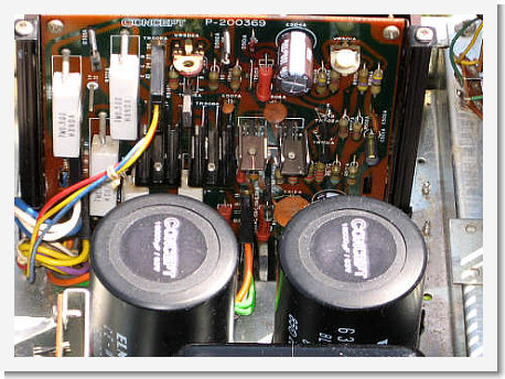 Restored Concept 11.0 amplifier board