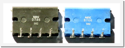 2SB706 and 2SD746 ouput transistors
